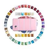 Paul Rubens 固形水彩絵具 パール 輝き 48色 セット アラビアゴム製 メタルケース入 専門家用 水彩絵具 固形 水彩ソリッドケーキ