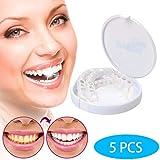 XXZ 5 pcs Dentadura simulación de Silicona Superior E Inferior Reutilizable para Adultos Dentadura Set Cosméticos on Smile Blanqueamiento De La Fit
