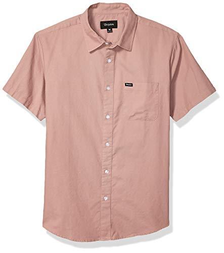 BRIXTON Herren Charter Standard FIT Short Sleeve Oxford Woven Shirt Button Down Hemd, Cameo, Klein