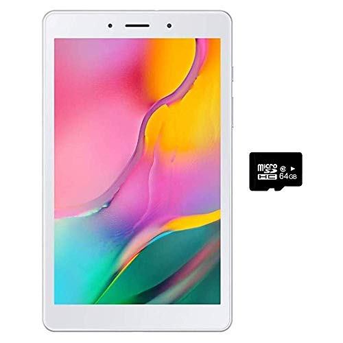 Samsung Galaxy Tab A 8.0' (2019, WiFi Only) 32GB, 5100mAh All Day Battery, Dual Speaker, SM-T290, International Model (32GB + 32GB SD Bundle, Silver)