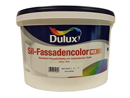 Dulux Sil-Fassadencolor Fassadenfarbe Mix mineralischer Optik Weiß matt 10 L