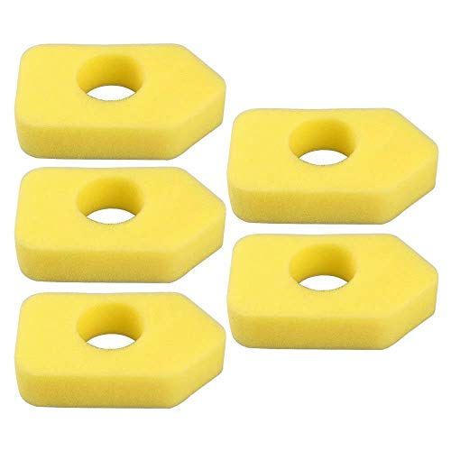 Jinyi Pack of 5 Foam Air Filter for Briggs & Stratton 698369 4216 5088 5099 490-200-0011