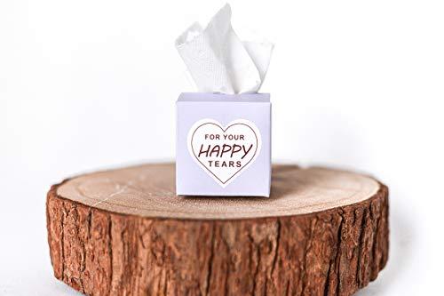 Freudentränen Taschentücher für Hochzeit, 50 Stück, Farbe Flieder mit Aufdruck, Taschentücher...