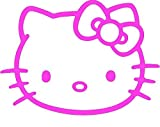 XXL Hello Kitty, pegatinas vinilo, (20 x 15 cm),/High Quality Product. konturge schnitten, The, Mind. 7 años impermeable. + Color a elegir