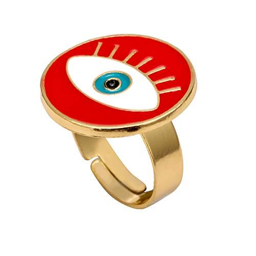 Ring Schmuck Love Oil Tropfring Verstellbarer Ring Augenring Schmuck