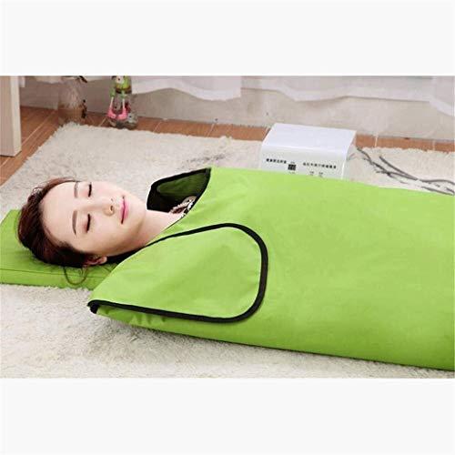 La terapia del infrarrojo lejano Sauna Manta desintoxicación de belleza Colchón de masaje Khan vapor Minus The Body El exceso de grasa Aliviar la fatiga física (Color: Rojo) 0813 (Color : Gree