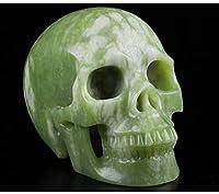 Skullis 5インチ チャイニーズピカソ クリスタルスカル 手彫りの宝石 ファインアート彫刻 レイキヒーリングストーン像