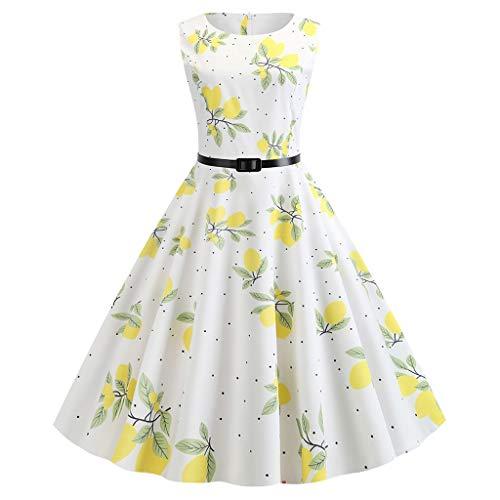 COZOCO 2019 Frauen Vintage Kleid der 1950er Jahre Retro ärmellose Punktmuster Abend Party Kleid...
