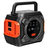 300W Portable Power Station, 80000mAh 292Wh Lithium Batteries Solar Generator with 110V AC/12V DC/QC 3.0 /USB&Type-C Port /Wireless Charger LED Light, Backup Power Supply for Outdoor Camping Emergency