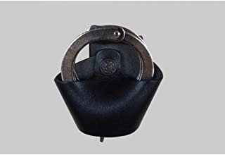 K012 Open Top Standard Chain Handcuff Case, Genuine Leather Handmade!