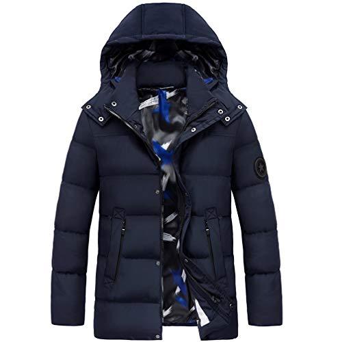 LYzpf Beheizte Jacke Daunenjacke Mann Hoodies USB wiederaufladbar Beheizbare Kleidung Winterwärmer Flexwarm Bekleidung für Outdoorarbeiten & Tägliches Tragen,Blue,L