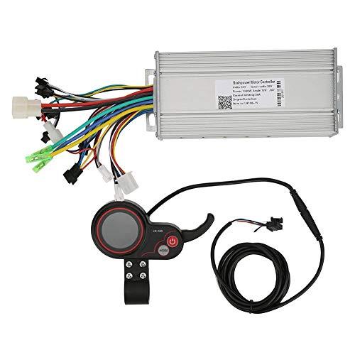 MAGT Controlador de Motor, LH100 36V 1000W Controlador de Velocidad del Motor con Interruptor de Cambio LCD para Scooter de Bicicleta eléctrica