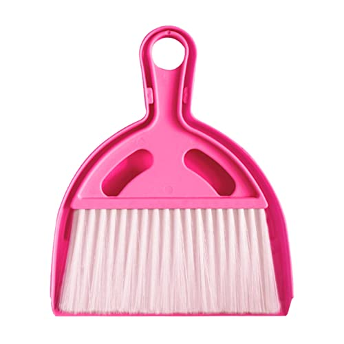 Hangarone Juego de recogedor y cepillo de plástico para teclados, para escritorio, mini cepillo de limpieza, mini escobilla, recogedor y recogedor