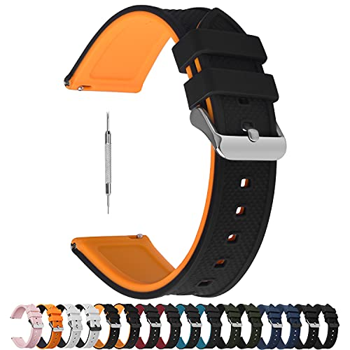 Fullmosa Cinturino in Silicone per Orologio, Cinturino Smartwatch Compatible con Amazfit/Samsung/Huawei/Casio/Daniel Wellington/Garmin/Oppo, Cinturini 18mm 19mm 20mm 22mm 24mm