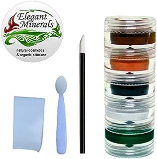 8pc Natural & Organic Face Paint Set (Tiger Army Witch) Halloween DYE-Free Vegan Costume Makeup Kit