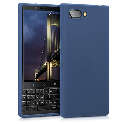 kwmobile Hülle kompatibel mit BlackBerry KEYtwo (Key2) - Hülle Handyhülle - Handy Hülle in Marineblau