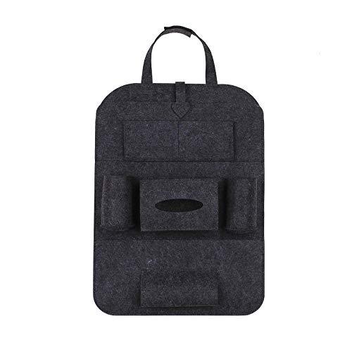 Sac de rangement pour siège de voiture, chaise multifonctionnelle pour voiture, sac de rangement de type dos, sac de rangement, sac de rangement, tapis anti-coups-Brown