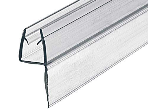 Gedotec Glastürdichtung Duschtürdichtung Glastüren Lippendichtung für Duschkabinen | PVC Transparent | 100 cm | Duschdichtung für Glasdicke 8-10 mm | 1 Stück - 1000 mm Dichtlippe Duschtüren