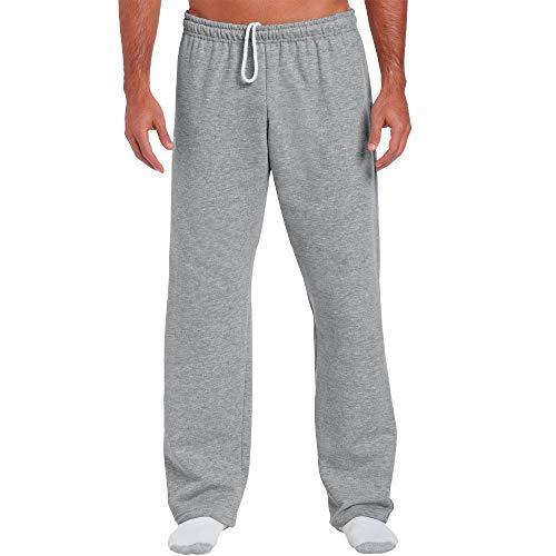 Gildan 18400 Open Bottom Sweatpants - Sports Grey - L