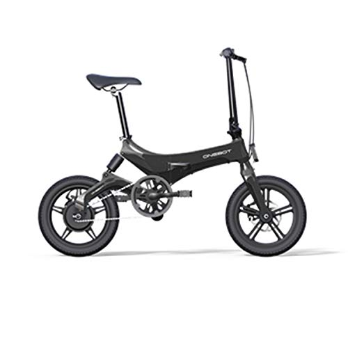 Bicicleta eléctrica plegable Onebot S-6 color negro| autonomía 40KM, batería 36V 5.2AH...