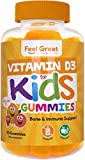 Vitamin D3 1000IU Gummy Vitamins for Kids (90 Day) by Feel Great 365 | 90 Gummies | Delicious Chewable Gummies | Supports Healthy Bones, Teeth, Mood, Immune System Function* | Fruit Pectin, Non-GMO
