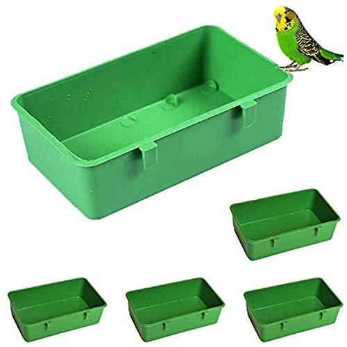 buyaoku Haustierbadewanne, Dusche, Haustierkäfig, Voliere, Wasser, Fressnapf, multifunktionaler Kunststoffbehälter, Haustierbox