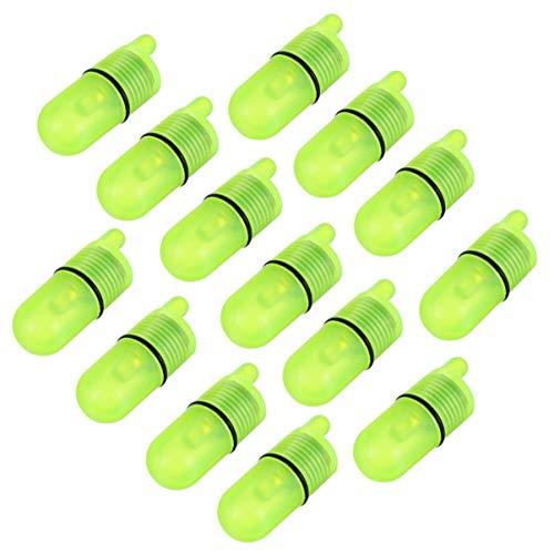 BESPORTBLE Angeln Bissanzeiger LED Angelglocke Angelrute Alarm wasserdichte Leuchtend Bissanzeiger Angelgerät Zubehör 20 Stück
