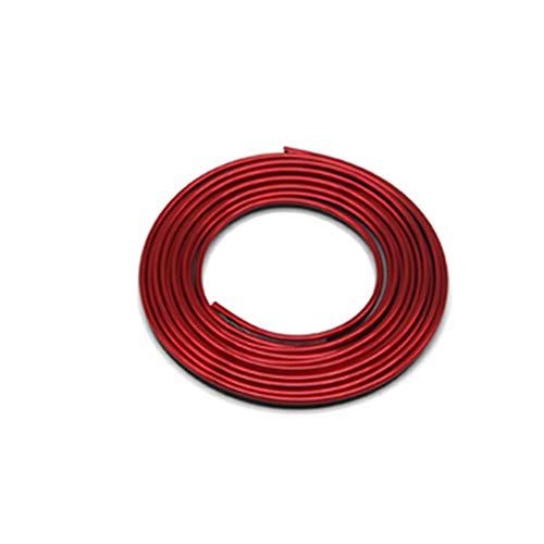 Hilai 5M Flessibile Trim per DIY Automobile Car Interior Esterno di modellatura della Cornice Decorativo Linea Strip con Una Piccola ruspa (Galvanotecnica Red)