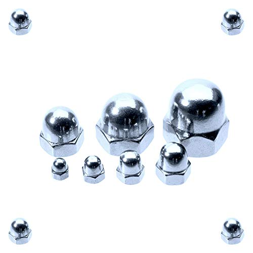 50 Stück Hutmutter M12 / DIN 1587 / Mutter/Material: Stahl galvanisch verzinkt Güteklasse: 8.8 / Ziermutter