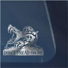 Don't Tread on Me Clear Vinyl Decal Sticker for Window, Gadsden Flag Sign Art Print Design-Metallic Silver