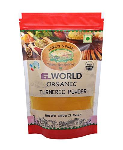 Elworld Agro & Organic Turmeric Powder (Haldi Powder) 250 Gram