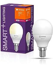 LEDVANCE Lampa LED | Trzonek: E14 | Ciepły biały | 2700 K | 5 W | SMART+ Mini bulb Dimmable [Klasa efektywności energetycznej A+] | 4 sztuki