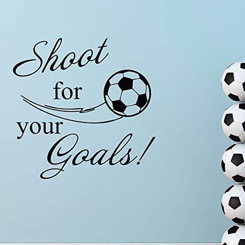 Schießen Sie Für Ihre Ziele Zitat Wandtattoo Abnehmbare Vinyl Sport Aufkleber Fußball Wandtattoos Fußballtor Jungen Zimmer Dekor 57 * 57Cm