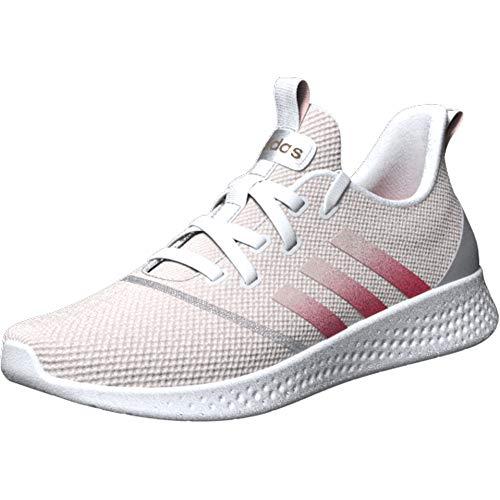 adidas Women's Puremotion Running Shoe, White/Pink/Pink Tint, 7.5
