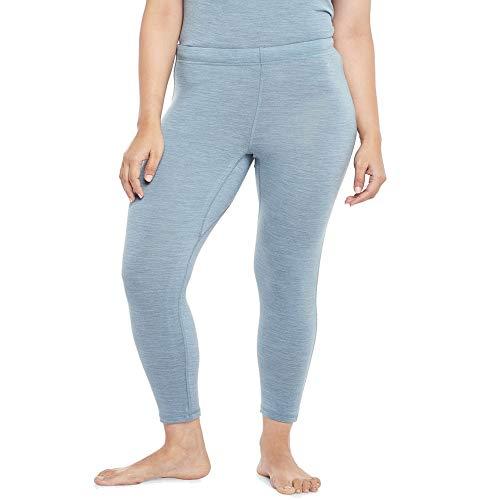 Kosha Women's Merino Wool & Bamboo Thermal Pant (Sky Blue,32)