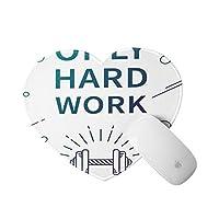 GEEVOSUN ハート型 マウスパッド,フィットネススポーツ見積もりダンベルプリント,個性的 おしゃれ 柔軟 かわいい ゲーミングマウスパッド PC ノートパソコン オフィス用 円形 デスクマット 滑り止め 小型 マウスマット