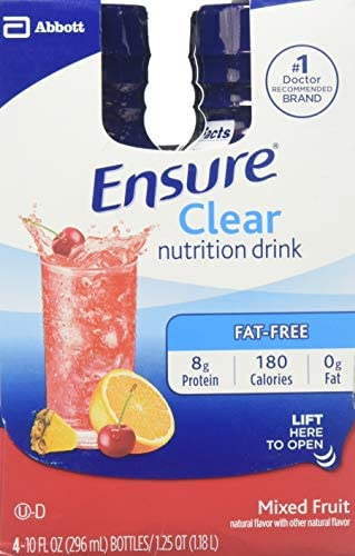 Ensure Clear Nutrition Drink Bottles Mixed Fruit 3 12 Pound product image
