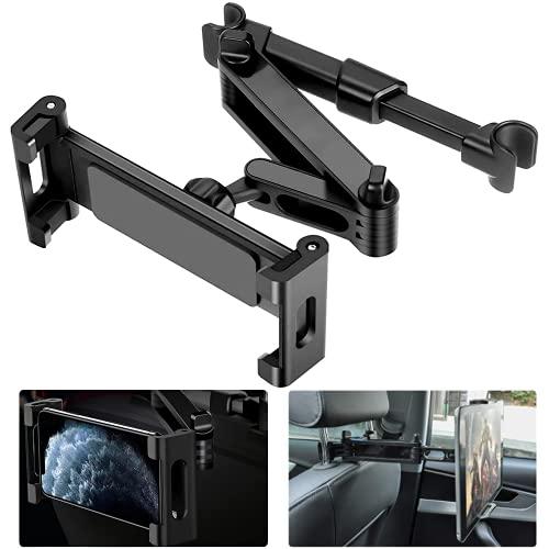 Tablet Halterung Auto Kopfstütze, Tablethalter Auto 360° Drehbar Ausziehbare Tablet Autohalterung , für iPad Mini Air 6-12 Zoll Handy, Tablet, E-Reader