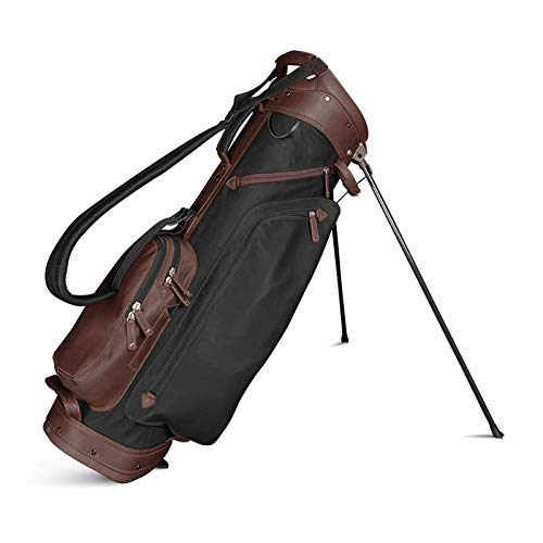Review Of Sun Mountain 2019 Men's Leather Stand Golf Bag - Black-Brown