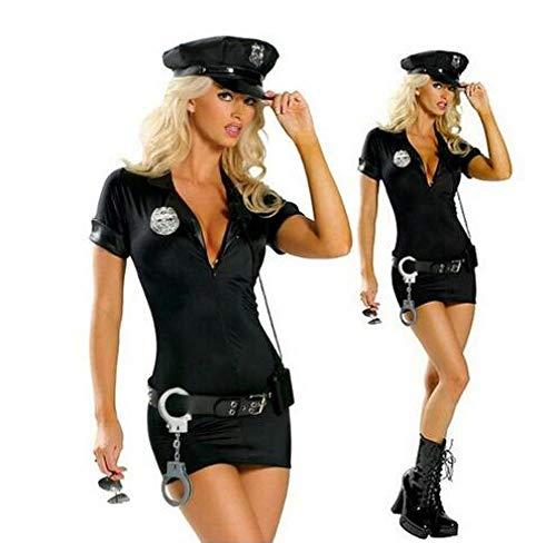 Erotic underwear-ZY Conjuntos De Lencería para Mujer Conjunto Completo Adulto Sexy Policía Disfraz Policía De Tránsito Uniforme Halloween Policía Mujeres Cosplay Disfraces SML XL XXL
