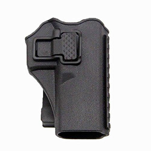 Tactical Right Hand Waist Gun Holster,MOLLE Vest Pistol Holster for Glock 17 19 22 23 31 (Black, Vest)