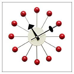 George Nelson Ball Clock - Red - Vitra