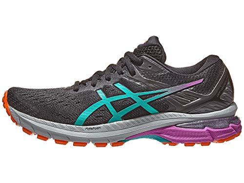 ASICS Women's GT-2000 9 Trail Running Shoes, 10.5M, Black/Baltic Jewel