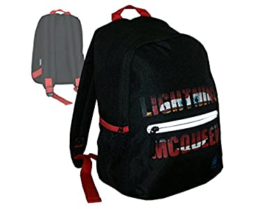 Mochila infantil con diseño de Rayo McQueen de Cars, pequeña mochila con bolsillo frontal, color negro, 33 x 23 x 12 cm (aproximadamente 10 litros) de Reebok