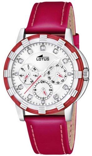 Lotus 15746/3 - Reloj analógico de Cuarzo para Mujer con Correa de Piel, Color Rojo