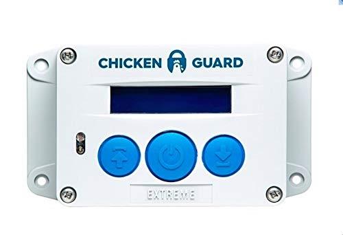 CHICKENGUARD 0702811646018 Extrem automatisk dörröppnare för kycklingstallet, automatisk kycklinglucka med timer och ljussensor, 4 kg