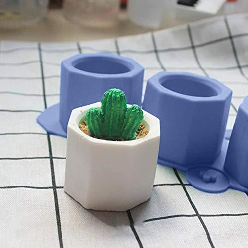Juman634 Bricolage Pot de Ciment Pot à la Main Artisanat d'argile Faisant Ciment Ciment résine pochoirs de résine époxy Moule de Silicone béton Outil de Moulage de Bouteille