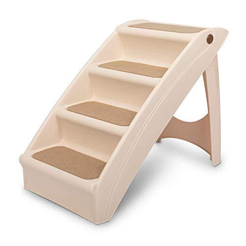 PetSafe Escalier pliable pour animaux CozyUp Large, pour chiens et chats, Cadre en plastique robuste, léger supportant jusqu'à 68 kg Rampes latérales, surface antidérapante pour plus de sécurité