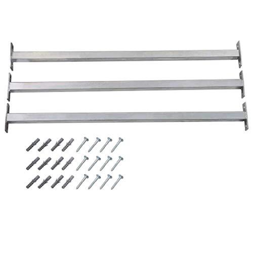vidaXL 3x Fenster Sicherheitsstange mit Schrauben Einstellbar Fenstergitter Fenstersicherung Einbruchschutz Kellerfenster Sicherung 710-1200mm