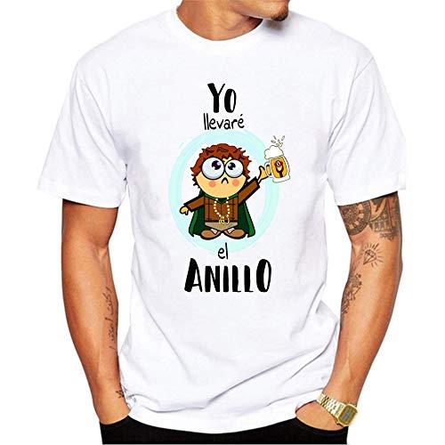 MardeTé Camiseta Despedida de Soltero. Yo llevaré el Anillo. Camiseta a Juego con Nosotros destruiremos el Anillo Divertida Camiseta de algodón para Despedidas de Solteros. (L)